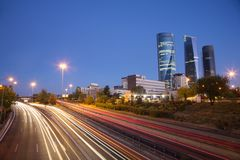 Evening at Madrid highway Royalty Free Stock Photos