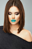 Evening Make up woman face portrait Royalty Free Stock Image