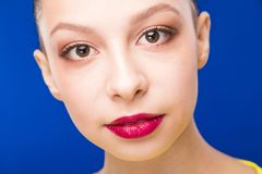 Evening make-up girl royalty free stock image