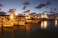Evening in a marina Stock Image