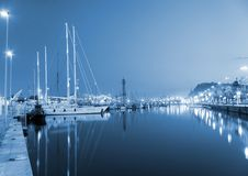 Evening marina stock illustration