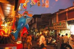 Evening Market Stock Photo