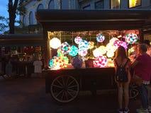 Evening market place at city Boston Stock Image