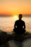 Evening meditation Royalty Free Stock Images