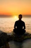 Evening meditation Royalty Free Stock Images