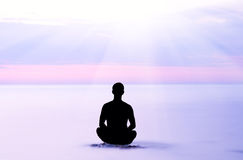 Evening meditation. Stock Image