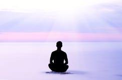 Evening meditation. Stock Image