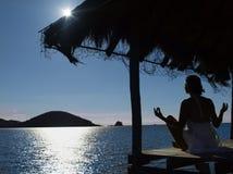 Evening meditation Royalty Free Stock Image