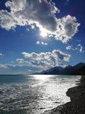 Evening on the Mediterranean coast. stock photos