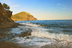 Evening at the Mediterranean seaside Royalty Free Stock Photo