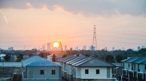 Evening metropolis - Bangkok Royalty Free Stock Photos
