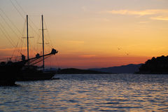 Evening on Mljet Royalty Free Stock Photography