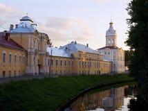 Evening in monastery. Evening landmark on the territory of St. Alexander Nevsky Lavra monastery Stock Photography