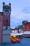 Evening at Montecatini Alto highland village in Tuscany Stock Photo