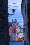 Evening at Montecatini Alto highland village in Tuscany Stock Photos
