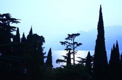 Evening mood. At Lake Garda, Italy Royalty Free Stock Photos