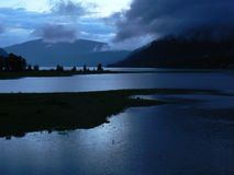Evening mood at Arrow Lake Stock Images