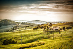 Evening mood landscape Tuscany Stock Images