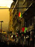 Evening mood with sunlight in the street od La Paz Stock Image