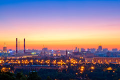 Evening Moscow Stock Photography