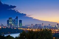 Evening Moscow City Stock Photos