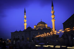 Evening mosque in Istanbul Royalty Free Stock Photos
