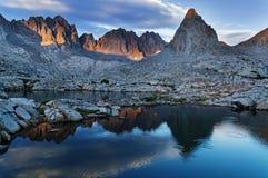 Evening Mountain Lake Reflection Stock Image