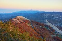 Evening Mountain Landscape. Montenegro, View Of Lovcen National Royalty Free Stock Images