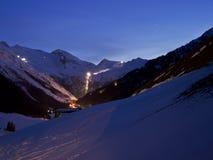 Evening mountain panorama Stock Image