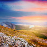 Evening mountain scene Stock Image