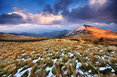 Evening in the mountains Stock Images