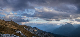 Evening in mountains. Caucasus mountains. Royalty Free Stock Photography
