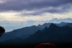 Evening in mountains Royalty Free Stock Photography
