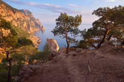 Evening in the mountains near the sea Stock Photography