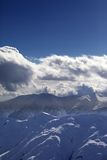 Evening mountains and sunlight clouds Royalty Free Stock Photography