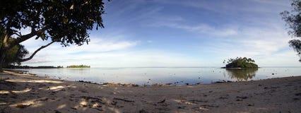 Evening at Muri lagoon stock images