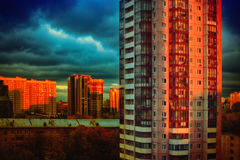 Evening mystical sky. Apocalypse colorful vibrant background Stock Photography
