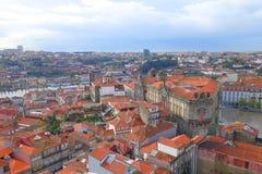 Evening nad miastem Porto Fotografia Stock