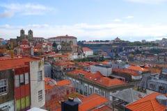 Evening nad miastem Porto Obrazy Stock