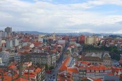 Evening nad miastem Porto Obrazy Royalty Free