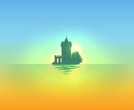 Evening nautical landscape Stock Image