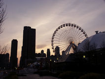 Evening on Navy Pier Royalty Free Stock Images