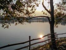 Evening near a lake. A beautiful evening time near a lake Stock Photo