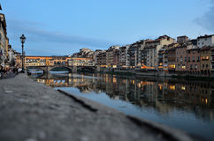 An evening near Ponte Vecchio. As the title says this picture was taken an evening near Ponte Vecchio in Florence Royalty Free Stock Images