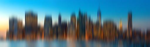 Evening New York City skyline panorama Stock Image