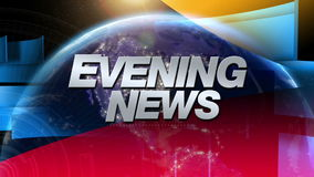 Evening News - Broadcast Graphics Title stock video footage