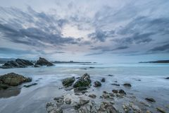The coasts and beaches of Galicia and Asturias. Evening and night on the coasts and beaches of Galicia and Asturias where you discover the beauty of nature royalty free stock photos