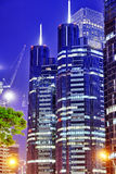 Evening, night modern Beijing business quarter of the capital, t Royalty Free Stock Image