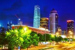 Evening, night modern Beijing Stock Image