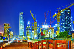 Evening, night modern Beijing Royalty Free Stock Photography